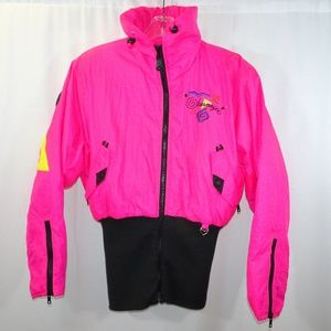 OBERMEYER Vintage Neon Pink Puffy Jacket Size 6
